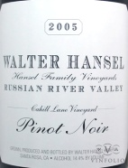 2007 Walter Hansel - Pinot Noir Cahill Lane Vineyard