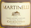 2008 Martinelli - Chardonnay Three Sisters Vineyard Sea Ridge Meadow