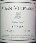2005 Alban - Syrah Central Coast