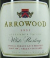1997 Arrowood - White Riesling Hoot Owl Creek Vineyard Special Select Late Harvest