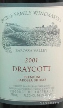 2001 Burge Family - Shiraz Draycott Vineyard