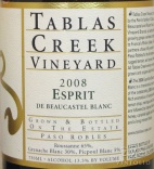 2010 Tablas Creek - Esprit de Beaucastel Blanc