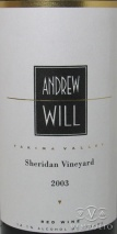 2003 Andrew Will - Red Sheridan Vineyard