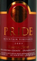 2002 Pride Mountain - Sonoma and Napa Claret Reserve