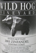 2009 Wild Hog - Zinfandel Estate
