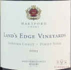 2005 Hartford Court - Pinot Noir Land's Edge Vineyard