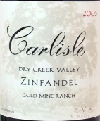 2005 Carlisle - Zinfandel Gold Mine Ranch