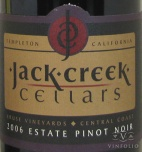 2010 Jack Creek - Pinot Noir (Kruse Vineyard Estate)