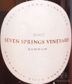 2008 Evening Land - Chardonnay Seven Springs Vineyard Summum