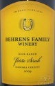 2009 Behrens Family - Petite Sirah Kick Ranch