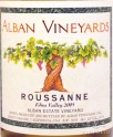 2010 Alban - Roussanne Estate