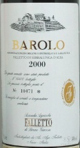 2000 Bruno Giacosa - Barolo Falletto