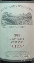 1998 Burge Family - Shiraz Draycott Vineyard Reserve