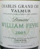 2005 William Fevre - Chablis Valmur