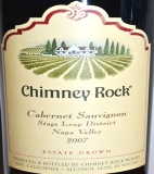 2007 Chimney Rock - Cabernet Sauvignon Stags Leap District