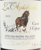 2001 Aphillanthes - Cotes du Rhone Villages Trois Cepages