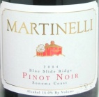 2004 Martinelli - Pinot Noir Blue Slide Ridge Vineyard