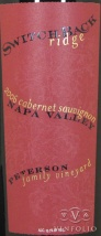 2008 Switchback Ridge - Cabernet Sauvignon Peterson Family Vineyard