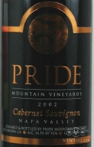 2002 Pride Mountain - Cabernet Sauvignon Napa Valley