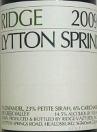 2010 Ridge - Lytton Springs