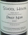 2001 School House - Pinot Noir