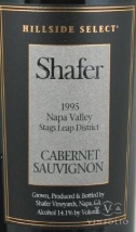 1995 Shafer - Cabernet Sauvignon Hillside Select