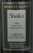 2000 Shafer - Cabernet Sauvignon Hillside Select
