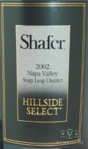 2002 Shafer - Cabernet Sauvignon Hillside Select