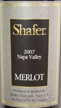 2007 Shafer - Merlot Napa Valley