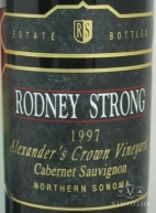 1995 Rodney Strong - Cabernet Sauvignon Alexander's Crown Vineyard Estate