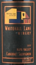 1999 Whitehall Lane - Cabernet Sauvignon Leonardini Family Selection Rutherford Appellation