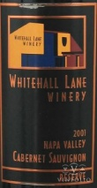 2001 Whitehall Lane - Cabernet Sauvignon Leonardini Family Selection Rutherford Appellation