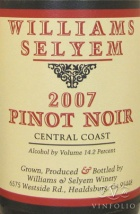 2009 Williams Selyem - Pinot Noir Central Coast