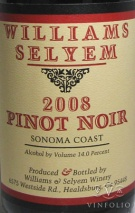 2008 Williams Selyem - Pinot Noir Sonoma Coast