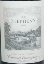 2001 DR Stephens - Cabernet Sauvignon Moose Valley Vineyard
