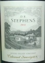 2002 DR Stephens - Cabernet Sauvignon Moose Valley Vineyard