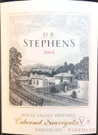 2004 DR Stephens - Cabernet Sauvignon Moose Valley Vineyard