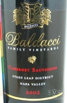 2002 Baldacci Family - Cabernet Sauvignon Black Label Stags Leap District
