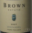 2008 Brown Estate - Zinfandel Napa Valley