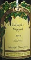 2002 Nickel & Nickel - Cabernet Sauvignon Carpenter Vineyard