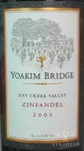 2004 Yoakim Bridge - Zinfandel