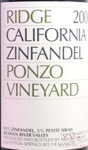 2006 Ridge - Zinfandel Ponzo Vineyards