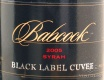 2002 Babcock - Syrah Black Label Cuvee