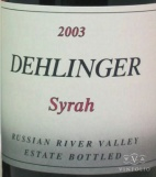 2003 Dehlinger - Syrah Estate