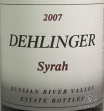 2006 Dehlinger - Syrah Estate