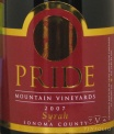 2007 Pride Mountain - Syrah