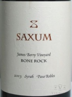 2003 Saxum - James Berry Vineyard Bone Rock