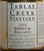2004 Tablas Creek - Esprit de Beaucastel