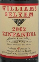 2002 Williams Selyem - Zinfandel Forchini Vineyard