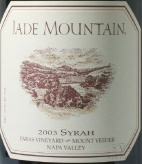 2002 Jade Mountain - Syrah Paras Vineyard